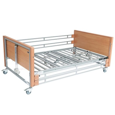 Casa Med Bariatric Beech Profiling Bed with Side Rails