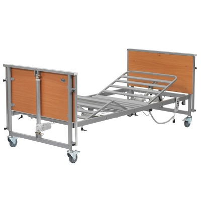Casa Nuova 4 Beech Profiling Bed with Steel Tube Base
