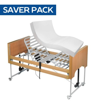 Harvest Woburn Profiling Bed and Medium Risk Pressure Relief Mattress Saver Pack