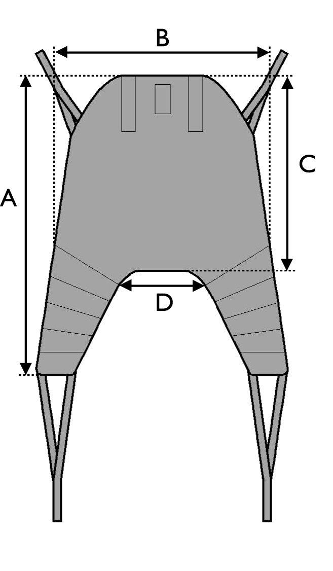 Universal High Sling Sizing Diagram