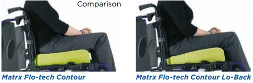 Comparison of flo-tech lo-back cushion with regular cushion