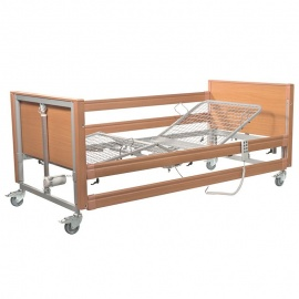 Casa Med Ultra FS Beech Profiling Bed with Side Rails and Metal Mesh