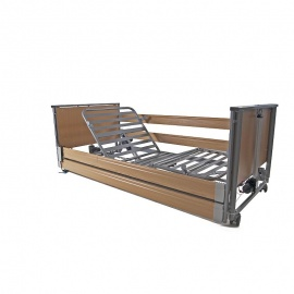 Harvest Woburn Community Low Profiling Bed with Wooden Side Rails