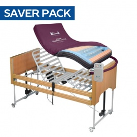 Harvest Woburn Profiling Bed and Very High Risk Pressure Relief Mattress Saver Pack