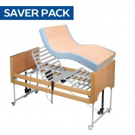 Harvest Woburn Profiling Bed and High Risk Pressure Relief Mattress Saver Pack
