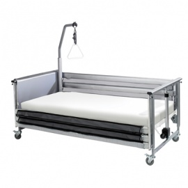 Harvest Two Bar Silver and Black Siderail Bumpers with Net Inserts for Woburn Community Beds