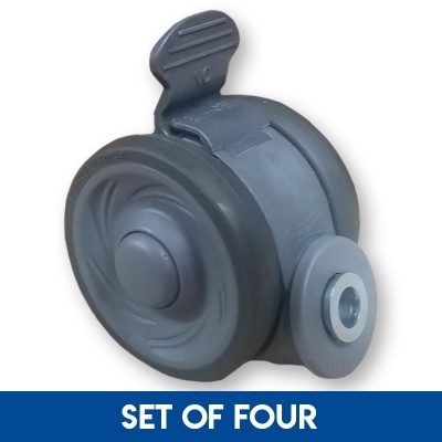 Set of Four Replacement Castors for the Harvest Woburn Profiling Bed